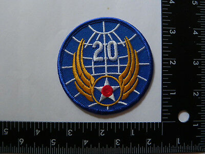 WW 2 ARMY AIR CORP PATCH- ---- 20th AIR FORCE --REPRODUCTION