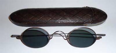 Antique Sun Glasses Spectacles Grey Tinted Georgian Early Victorian