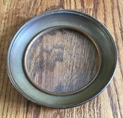 Vintage round wood picture frame