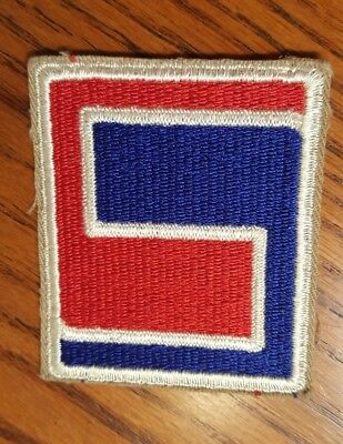 WW2 U S Army  69th Infantry Division ID Cut Edge Khaki Patch ETO