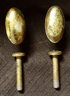 2 Pair avail Vintage Antique Oval Drawer Cabinet Furniture Door Knob Pull Handle
