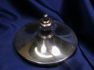 Sterling Silver Lid With Finial – Excellent Estate Condition
