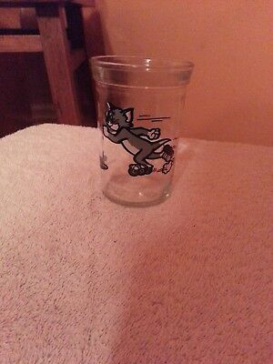 Tom & Jerry 1990 Turner Entertainment Welch's Juice Glass