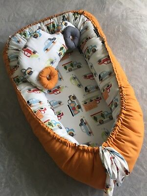Baby Nest double side with toy car portable baby bed infant sleeper