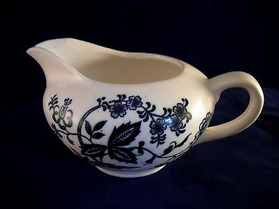 Vintage Blue Onion Style Pattern Coffee Creamer Dish Made in Japan