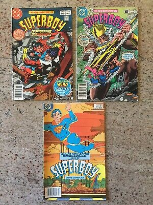 Adventures of Superboy lot of 3 comics, 44, 47, and 51