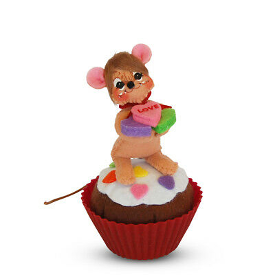 """ANNALEE ~ 2017 ~ Valentines ~ 3"""" ~ """"Cupcake Cutie"""" ~ Brown Mouse ~ #100317 ~ NWT"""