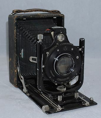 Ernemann Heag VII 9x12 Folding Camera with Carl Zeiss Jena Tessar f4.5 15cm Lens