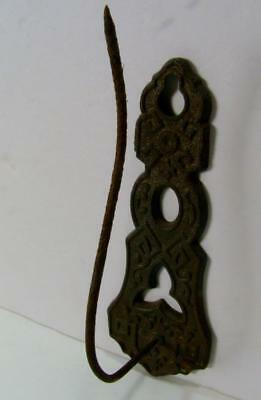 Antique 1872 Cast Iron Hook Victorian Receipt Spike Hook Bill Holder