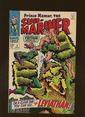 Sub-Mariner 3 VF+ 8.5 * 1 Book * On A Clear Day You Can See Leviathan! Buscema!