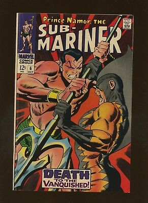 Sub-Mariner 6 FN 6.0 * 1 Book * 2nd Tiger Shark & Dr. Dorcas! Thomas & Buscema!