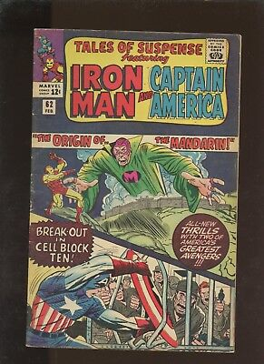 Tales of Suspense 62 FN 6.0 * 1 Book Lot * Mandarin Origin! Lee! Kirby! Heck!