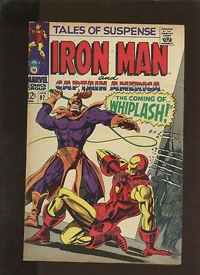 Tales of Suspense  97 FN+ 6.5 *1 Book* 1st Whiplash & Big M! Lee! Kirby! Colan!