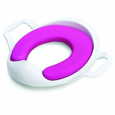 The Neat Nursery Co. Comfy Toddler Kids Child Toilet Training Seat White / Pink
