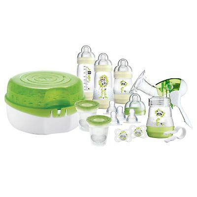 MAM Baby Feeding Steriliser And Breast Pump Set With Bottles, Teats And Soothers