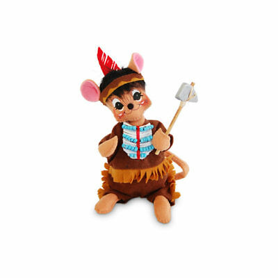 """ANNALEE ~ 2017 ~ Thanksgiving ~ 6"""" ~ """"Indian Boy Mouse"""" ~ #350917 ~ NWT"""