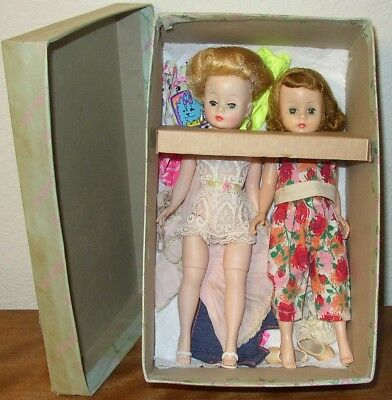 2 VINTAGE MADAME ALEXANDER - CISSETTE's DOLLS - WITH AS IS TYPE BOX