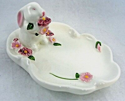 Avon Vintage Bunny Rabbit Soap Dish Easter Spring 1985