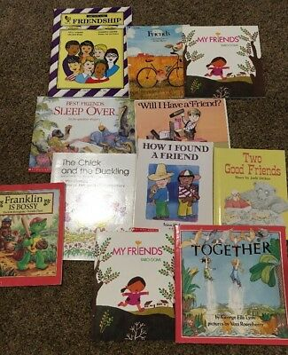 Friendship Thematic Unit Primary Teachers Friends Back To School Lot Of 10 Books