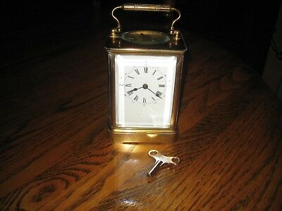 Working French Antique Carriage Clock, 1890, Porcelain Dial, Time&Strike, Wow!
