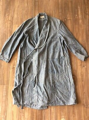 Mens VTG Coat / Robe Style - Train Enginer Smoking Jkt Robe XL