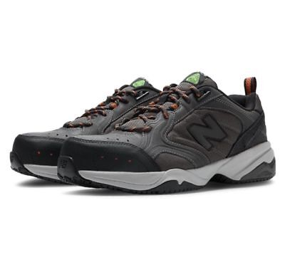 4f8b212f NEW BALANCE 627 STEEL TOE INDUSTRIAL Work Shoe Black Leather MENS 4E ...
