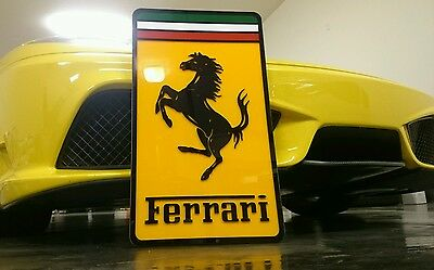 Ferrari 3D sign lighted sport car garage racing
