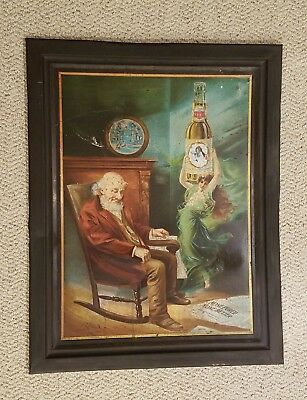 SUPER RARE Pre-Pro FRANK FEHR X L BEER self-framed tin sign from KENTUCKY !!!