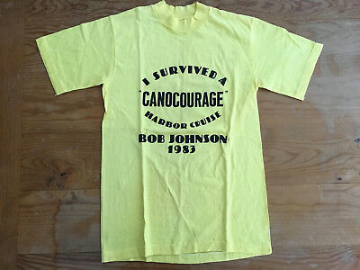 Vintage,Vtg Early 80s NOS Hanes Yellow T-Shirt Size S Beefy 100% Cotton made USA