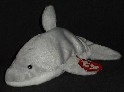 TY 3RD GEN FLASH the DOLPHIN BEANIE BABY - MINT with TAG - SEE PICS ... 4faa62358ca