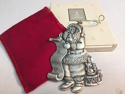 Avon NIB 1996 Christmas Pewter Ornament SANTA