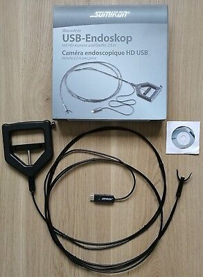 SOMIKON USB Endoskop 720p HD-Kamera + Greifer + Mini-LED  ca. 2,5m wasserdicht