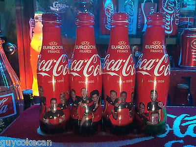 BELGIUM Set 4  Coca-Cola with Belgian Soccer players set Alum Bottles