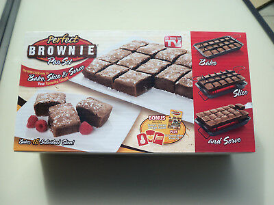 Perfect Brownie Pan Set, new, with recipe guide