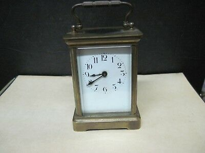 Vintage Carriage Clock With Lion Mark, France