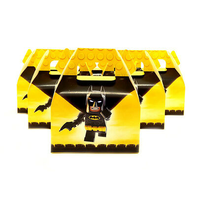 6pcs/lot Candy Box Cake Box for Kids Batman Theme Party Baby Shower Party Decora