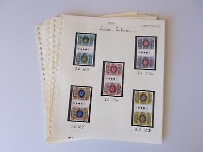 1977 - 79 Traffic Light Gutter Pairs. 17 different mint sets. See pics below.