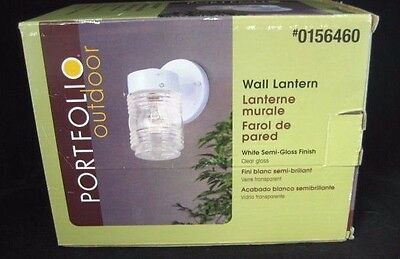New NIB Portfolio Outdoor Wall Mount Lantern Light