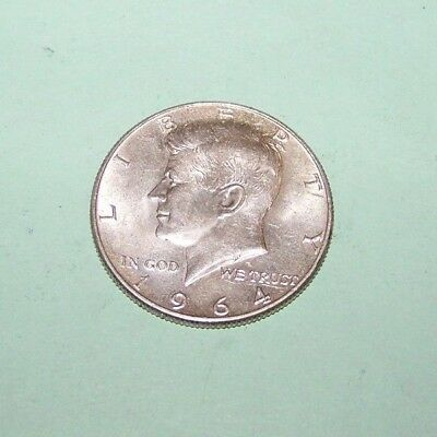 Nice 1964-P 90% Silver Kennedy Half Dollar Coin, 50-Cent Piece, Free Shipping!!