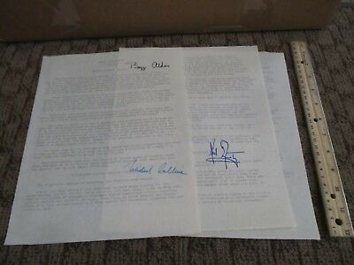NASA Astronaut Signed Document Buzz Aldrin Neil Armstrong Michael Collins Moon