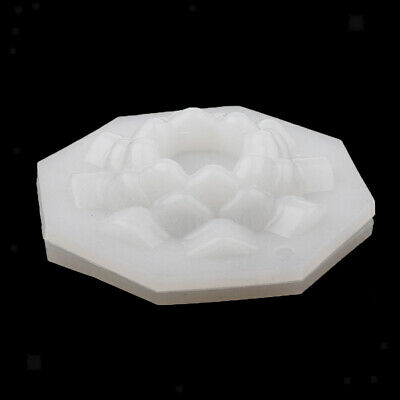Lotus Flower Clear Plastic Candle Making Mould Candle Soap Mold 5.5x2.7cm