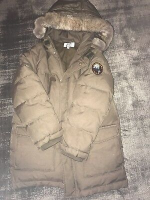 Boys Armani Junior quilted long Jacket - Age 10yrs - Olive/Khaki - used