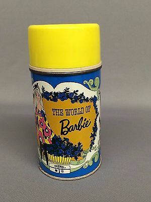 """Vintage 1971 """"The World of Barbie"""" Thermos"""