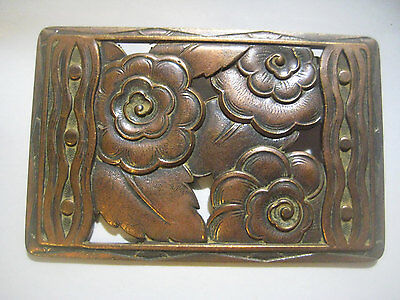Older Rare Vintage French 1930 Classic Art Deco Floral Brooch Pin Topper Finding