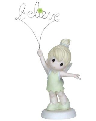"""Precious Moments Disney """"believe"""" Tinker Bell #129004  New * Free Shipping"""
