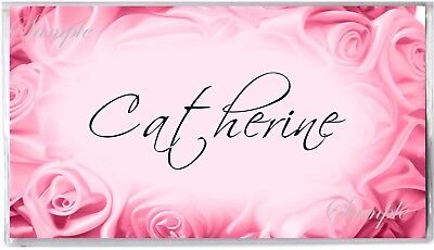 Personalized Checkbook Cover - Pink Rosebuds