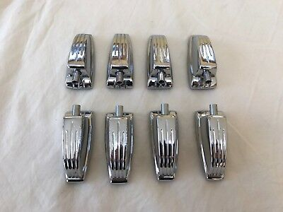Ludwig 60s 70s Vintage Bass Drum Floor Tom Lug Set 8 Lugs Chrome