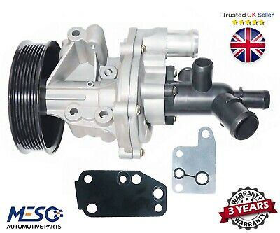 Water Pump With Connector & 2 Gaskets For Ford Transit Mk7 2.4 2006-2014