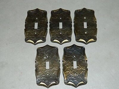 Vintage Amerock carriage house single toogle light switch cover plate lot of 5