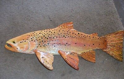 Hand Carved and Painted Trout and Saltwater fish look realistic